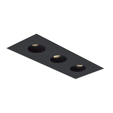 1X3 Round on Square Flanged Trim  by Element by Tech Lighting | EMT13RFF-B