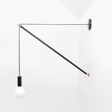 Pennant Wall Light by Andrew Neyer | PL-3BLK