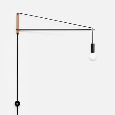 Crane Swing Arm Wall Light by Andrew Neyer | CL-2BLK