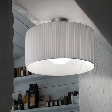 Fog Plisse Ceiling Light Fixture