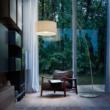 Fog Plisse Arch Floor Lamp