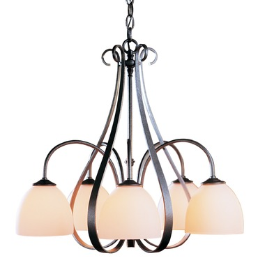 Sweeping Taper 5 Arm Dome Shade Chandelier
