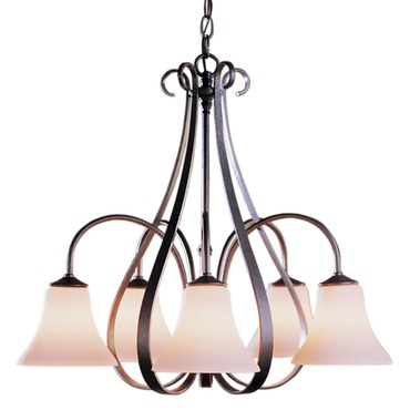Sweeping Taper 5 Arm Bell Shade Chandelier