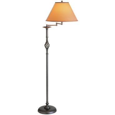 Twist Basket Swing Arm Floor Lamp