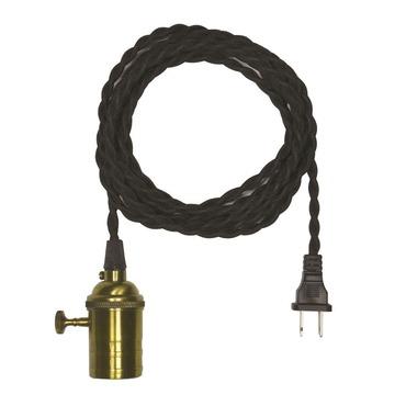 Nostalgic Cord and Plug Pendant Swag 120V