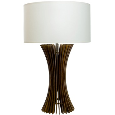 Flared Turned Slats Table Lamp