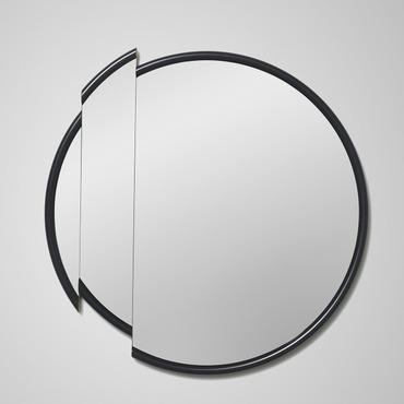 Split Round Mirror