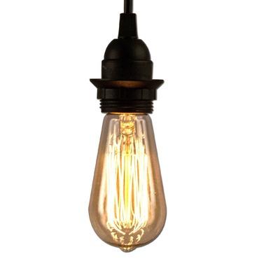 B2125P Edison Filament Bulb and Cord Combo 60W 120V