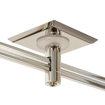 Monorail 2 Inch Square Single Feed Power Canopy by Edge Lighting | mp-2sq-1-sn