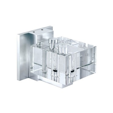 Square Crystal Wall Sconce by PureEdge Lighting | sqcry-w-h1-sa