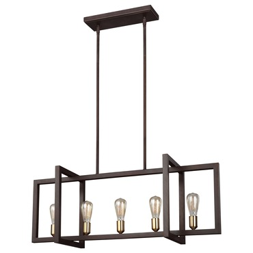 Finnegan linear chandelier