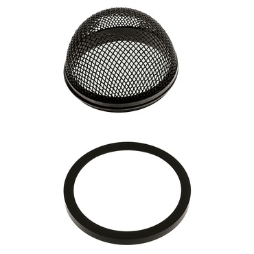 S7 Round Mesh Shade Accessory by Edge Lighting | s7-bk