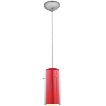 Glass n Glass Cylinder Cord Pendant Integrated LED
