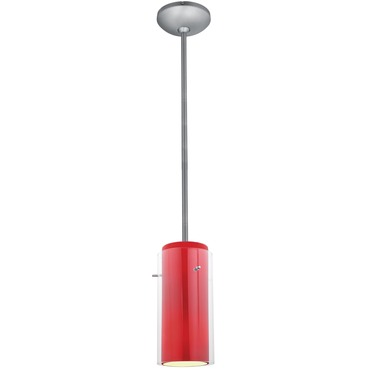 Glass n Glass Cylinder Rod Pendant Integrated LED