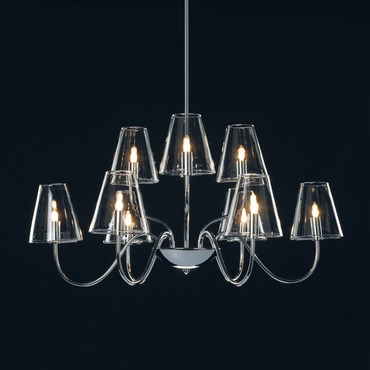 Chic 9 Light Chandelier by Et2 | e20293-10