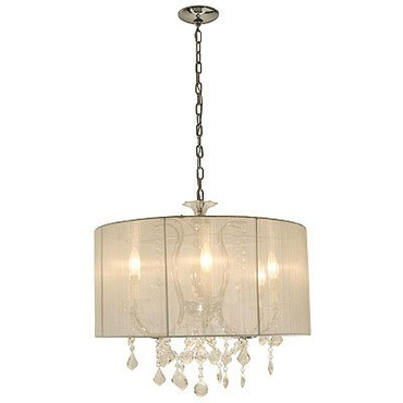 Crystal Veil Chandelier by Edge Lighting | CRYSTALVE-S-WH