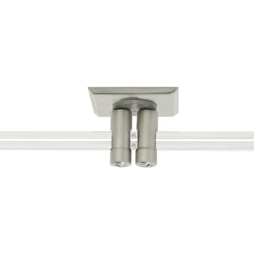 Monorail 2 Inch Square Dual Feed Power Canopy by PureEdge Lighting | MPD-2SQ-1-SN