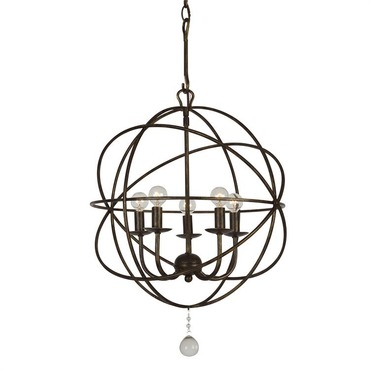 Solaris 5 ring chandelier by crystorama 9225 os solaris 5 light mini chandelier aloadofball Gallery