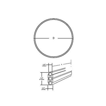 Monorail 2-Circuit Pre-Bent Circle by PureEdge Lighting | M2-24C-BZ