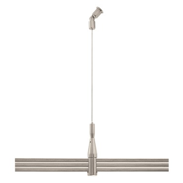 Monorail 2-Circuit Sloped Ceiling Adjustable Standoff by PureEdge Lighting | M2S-SLA-SN