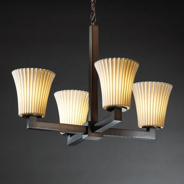 Modular Limoges Pleats Chandelier