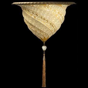 Samarkanda Glass Wall Sconce by Venetia Studium   LC-G 041 AP-1-GD-BR