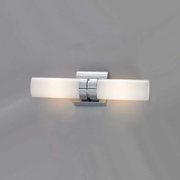 Wave Double Wall Sconce by ILEX | WAVD-WM-SH-CH-IN
