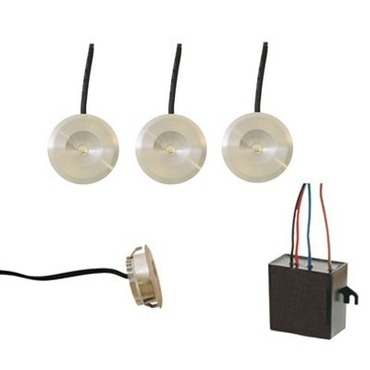 Button Dot Round LED Undercabinet Kit