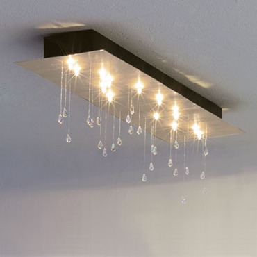 Crystal Rain Rectangular Ceiling Mount by Lightology Collection | LC-16181524