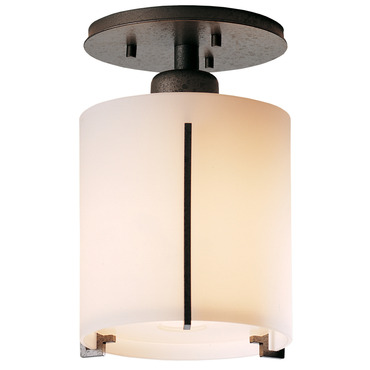 Exos Round Glass Semi Flush Ceiling Light by Hubbardton Forge | 123775-20-G140