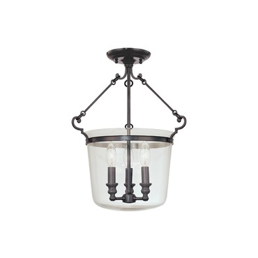 Quinton Semi Flush Ceiling Mount by Hudson Valley Lighting | 130-ob