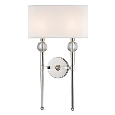 Rockland 2 Light Wall Sconce by Hudson Valley Lighting | 8422-pn
