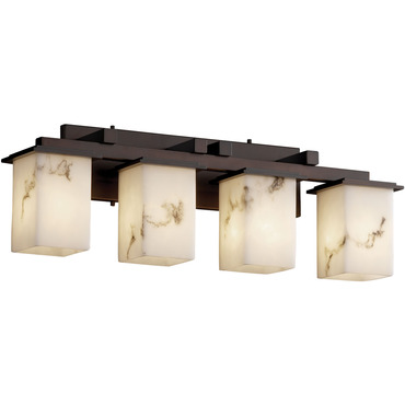 Montana Four Light Square Flat Rim Bath Bar by Justice Design | fal-8674-15-dbrz
