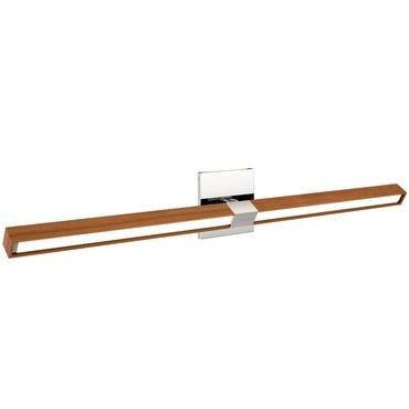 Tie Stix Wood Horizontal Adjustable Wall Light 34IN