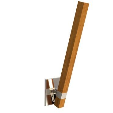 Tie Stix Wood Adjustable Wall Light w / Square Canopy