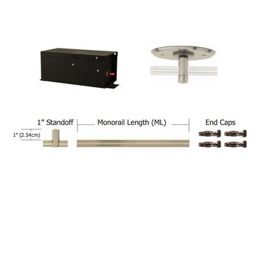 Monorail 12V Straight Kit 150W Remote Magnetic by Edge Lighting | T-150-12-K12-SN