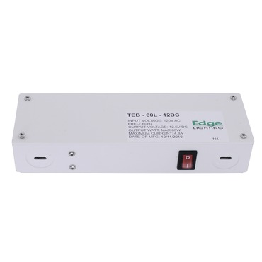 60W 12VDC Hardwire LED Electronic Power Supply by Edge Lighting | teb-60l-12dc