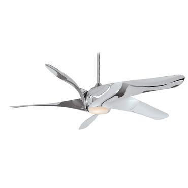 Artemis XL5 Ceiling Fan with Light Liquid Nickel