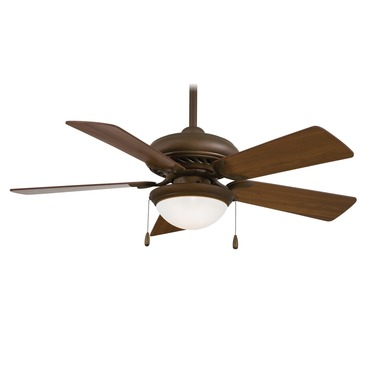 Supra 44 Ceiling Fan w/Light by Minka Aire | F563-SP-ORB