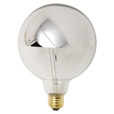 25 Watt 120V G125 Half Chrome Medium Base Bulb