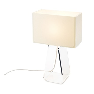 Tube Top Classic Small Table Lamp by Pablo | TT 14 WHT/CHR