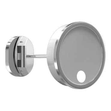Single Arm Spot Light Wall Mirror by Remcraft Lighting | M3-S-WB-3X-CHR