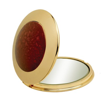 Folding Compact Mirror by Remcraft Lighting | p12 gold