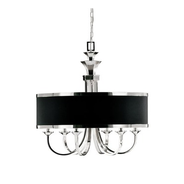 Tuxedo 6 Light Single Shade Chandelier by Uttermost | 21130
