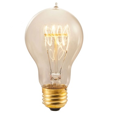 Nostalgic A19 E26 Antique Loop Bulb 40W 120V by Bulbrite | 134020