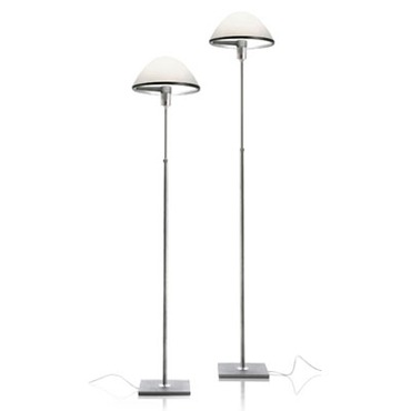 Miranda Adjustable Floor Lamp by Luceplan USA | LC-1D600TI00520+SHADE-OP