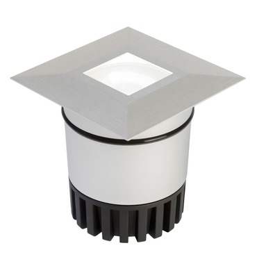 Sun3 Square 36 Deg LED Recessed Uplight/Steplight by Edge Lighting | sun3-hdl3-sq-ww-sa