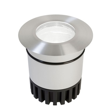 Sun3 Round 47 Deg LED Recessed Uplight/Steplight by Edge Lighting | sun3-hdl4-rd-ww-sa