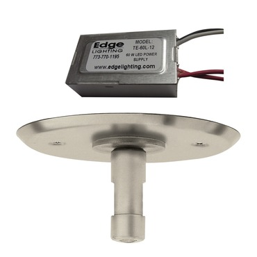 4 Inch Round LED Power Feed Canopy With Transformer by Edge Lighting | mte-60l-12-sn
