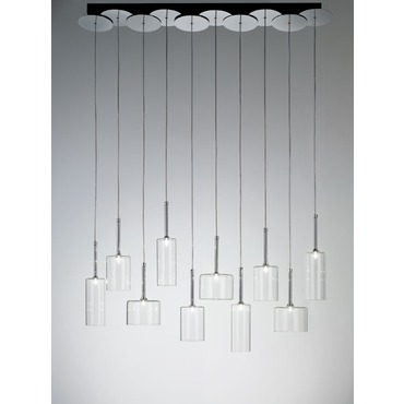 Spillray Linear Suspension by Axo Light | USSPIL10CSCR12V